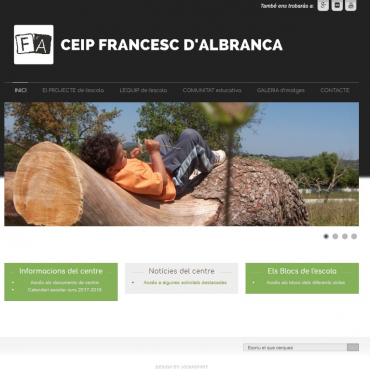 Web CEIP Francesc d'Albranca